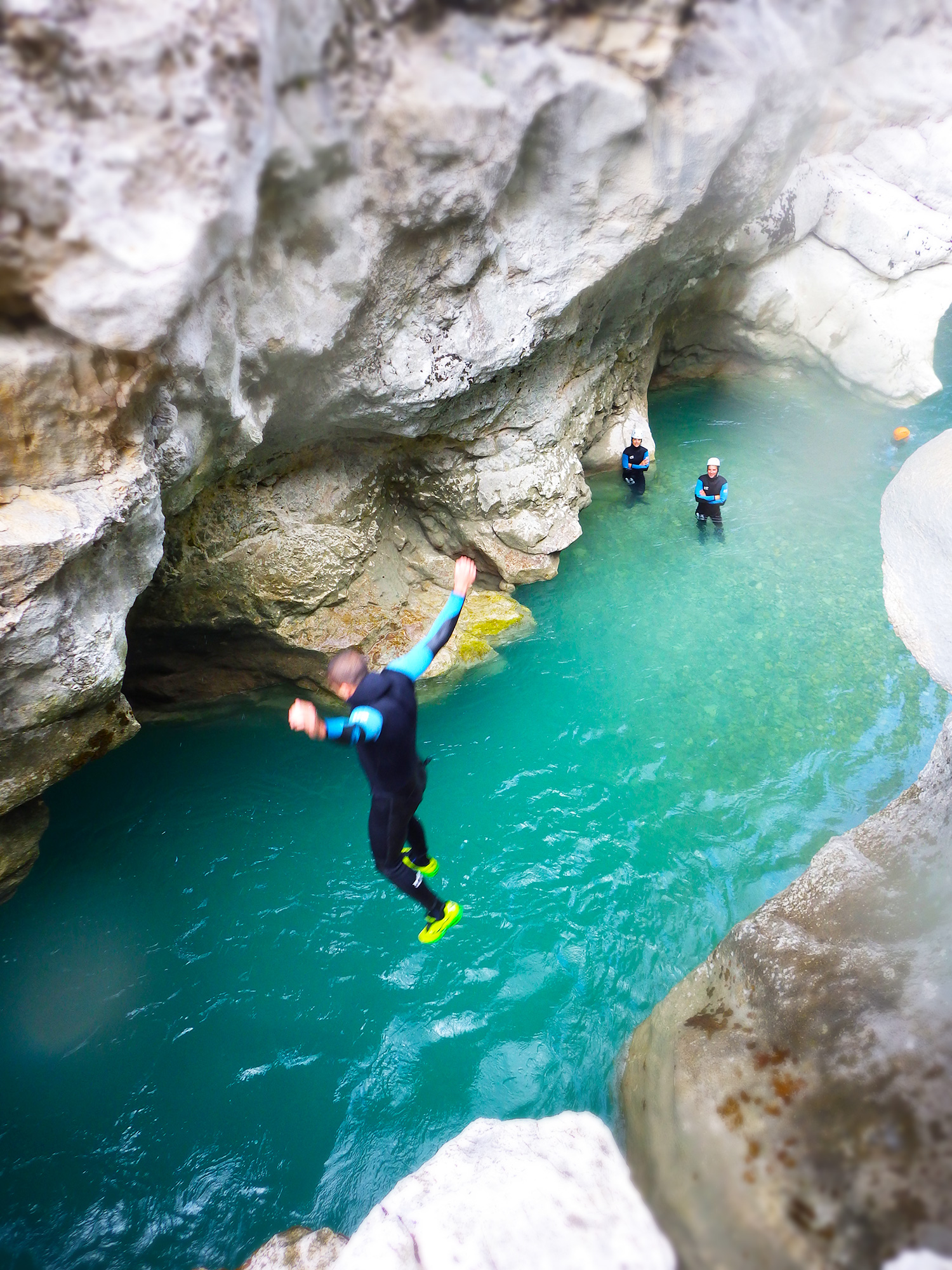 saut canyoning verdon