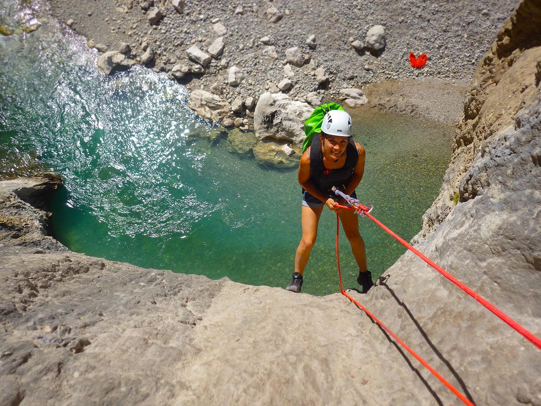 rappel canyoning verdon